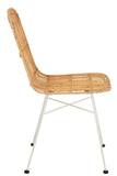 Chaise Ema Rotin/Metal Naturel/Blanc Chair Rattan/Metal Natural/White