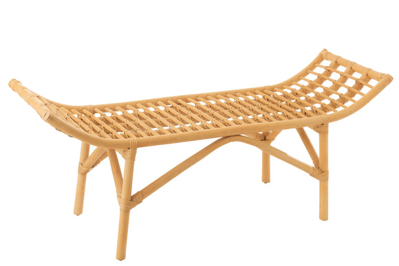 Banc Ana Rotin Naturel Bench Rattan Natural