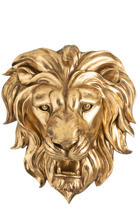 Tete De Lion Suspendue Resine Lion'Head Wall Deco