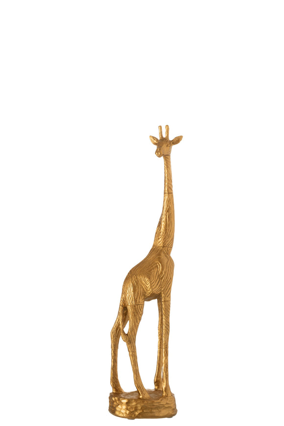 Girafe Resine Or Giraffe Poly Gold