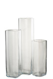 Vase Droit Carre Rectangle Square Transparent
