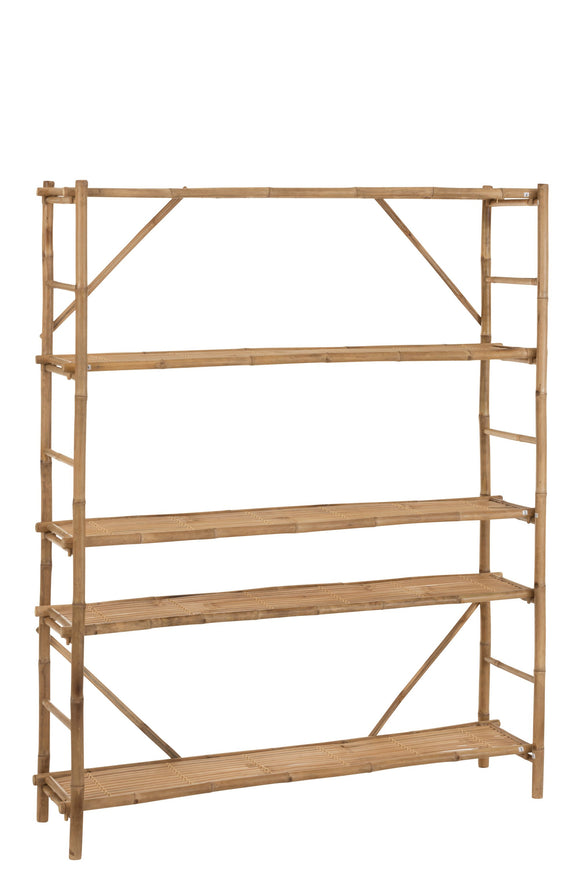 Etagère 5 Planches Bambou Naturel Rack Bamboo Natural