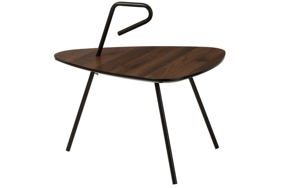 Table De Salon Petite Arrondie Triangulaire Bois Tea Tree Marron Small Round Triangle Wood Brown