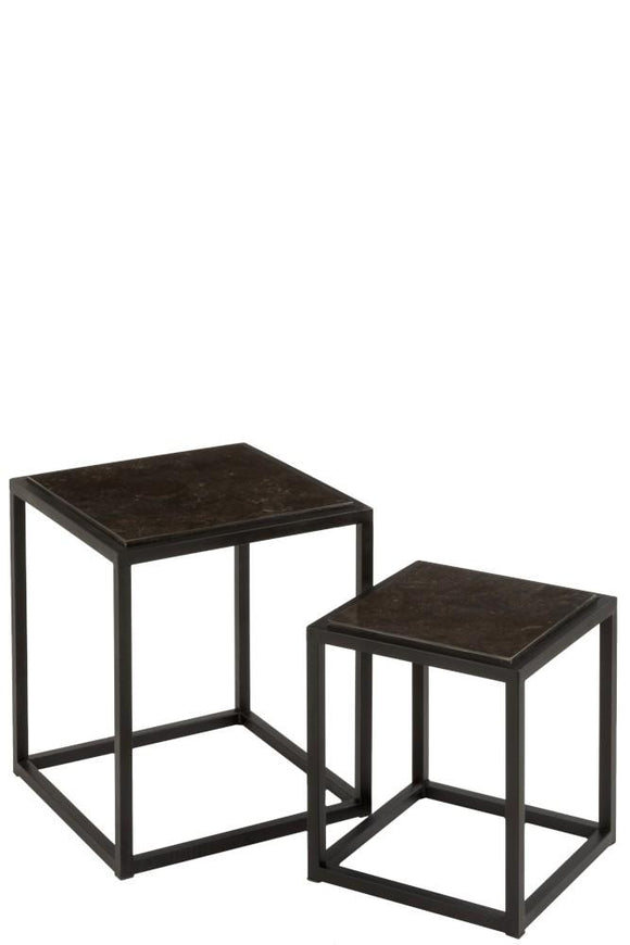 Set De 2 Tables Gigognes Basses Carrées