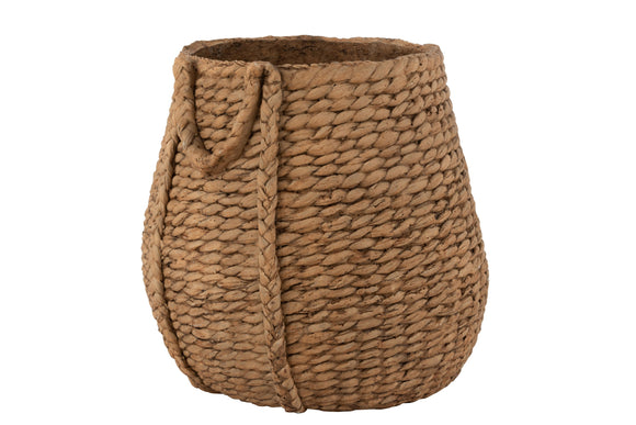 Cachepot Tisse Ciment Naturel Flowerpot Woven Cement Natural