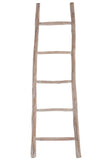 Echelle 5 Marches Bois Blanc Wash Ladder Wood White Wash