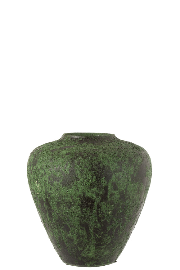 Vase Pot Army Ceramique Vert Flowerpot Ceramic Green