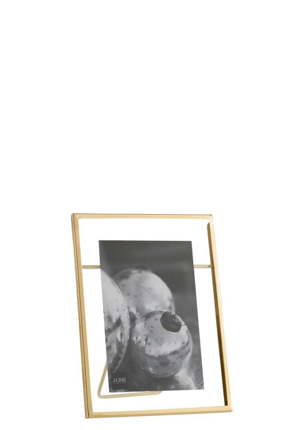 Cadre Photo Transparent Metal Or