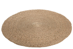 Tapis Rond Tresse Zostere Naturel Carpet Round Braided Seagrass Natural