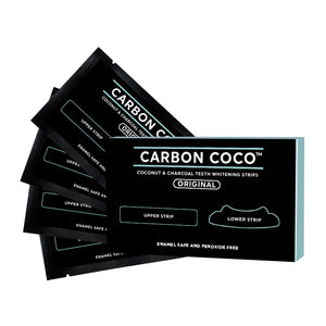 """Black Friday 23% OFF""Coconut and Charcoal Teeth Whitening Strips"