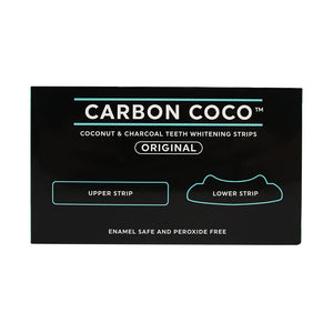 「4/3-7/3~27% OFF」Coconut and Charcoal Teeth Whitening Strips