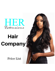 Hair Company Wholesale Price List