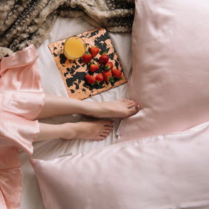 Peony Crush Pillowcase - Wake Up Fresh & Crush It! - Satosense