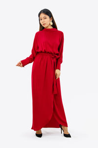 Aria Dress in Scarlet Red
