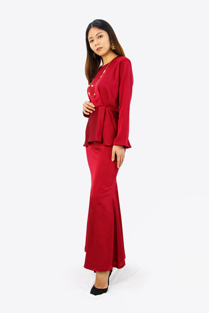 Alyssa Kurung in Ruby Red