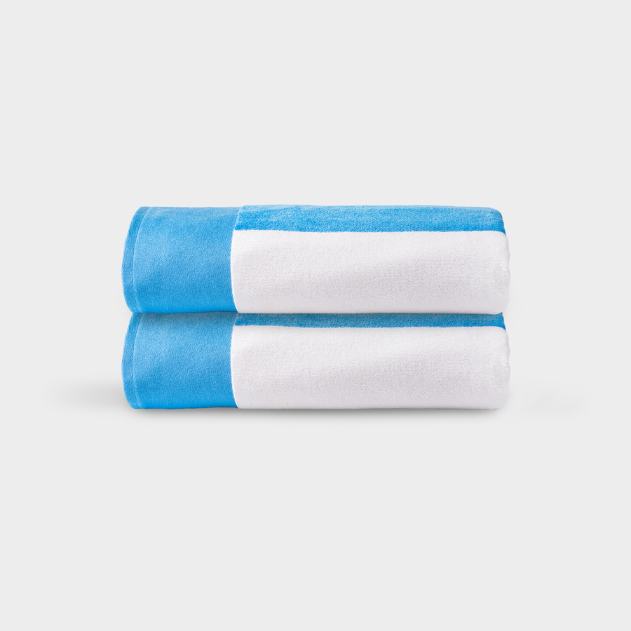 Casamera Cabana Beach Towels Blue And White