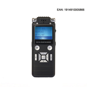 Digital Voice Recorder, ieGeek 8GB 1536Kbps USB Sound Audio Recorder Multifunctional Rechargeable HD Recording Dictaphone Voice Activated/Double Microphone, Digital Audio MP3 Player With Headphones