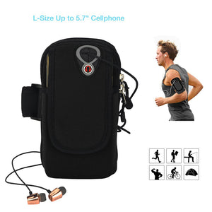 "ieGeek Running Armband Phone Holder Sweat-Free Sports Armband Bag for Cellphone Up to 5.7"", MP3 MP4 Running Workout Cycling Hiking Jogging Multifunctional Pockets with Double Pockets & Free Keychain"