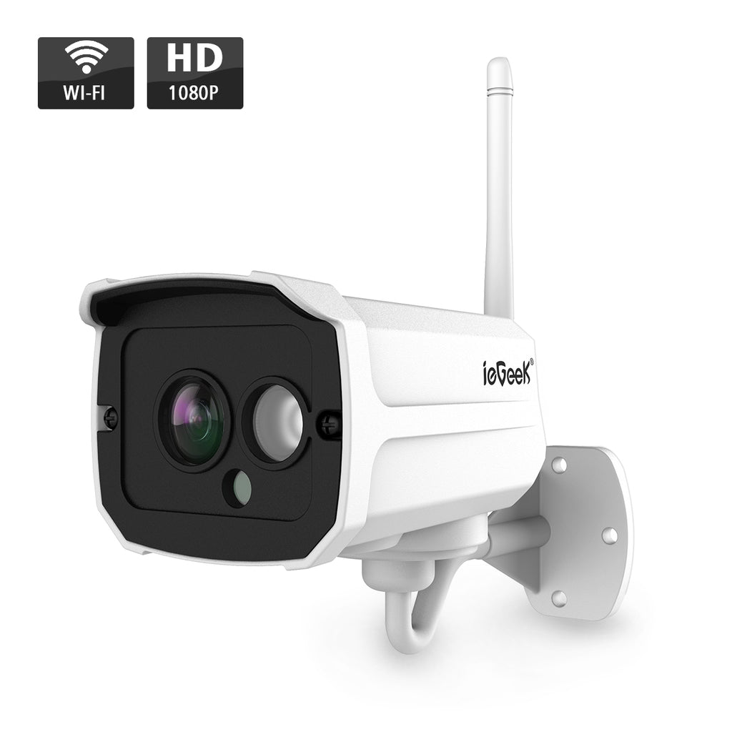 IP Camera, 1080P HD Wireless Outdoor IP Camera WI-FI Security Camera with Motion Detection, Night Vision Alarm Supports Max 64GB SD Card & AP Hotspot