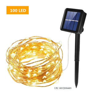 ieGeek 100 solar-powered LED Copper Wire Light Waterproof Light for Outdoor and Indoor, Garden, Wedding, landscape warm white little lights