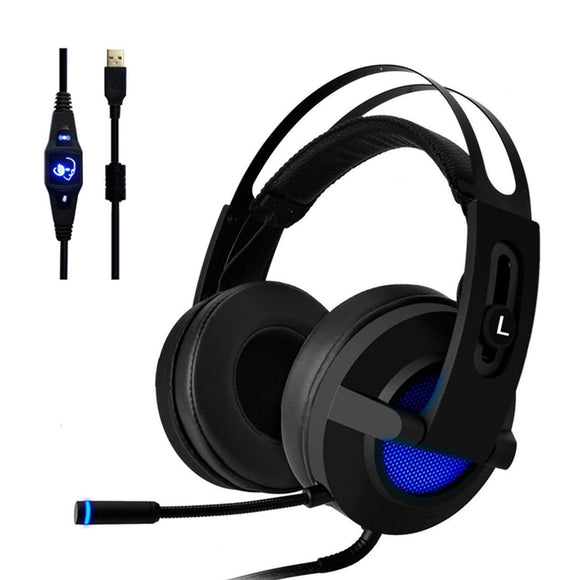 Stereo Gaming Headset, Beexcellent 7.1 Channel Virtual Surround Sound Gaming Headphones USB Wired PC Gaming Headset Over Ear Headphones Computer Gaming Headset Noise Canceling with Rotating Mic/Volume Control/RGB LED Light               UPC: 889328983840