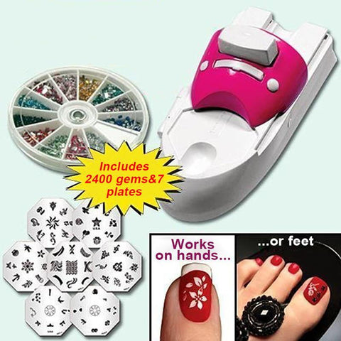 NailArt®- Machine à estamper les ongles