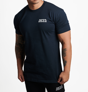 Diced Mob Tee - Midnight Navy