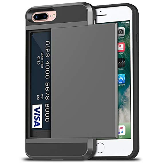 iPhone Case with Wallet Design and Card Slot Holder