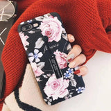 Marble Silicone Ring Holder iPhone Case