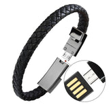 Portable Charger Leather Bracelet for Phones