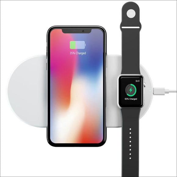 Wireless Charger Pad For iPhone X/8/8plus, Apple Watch Series 1/2/3, Samsung Galaxy Note8/S8 Plus/S8/S7 Edge