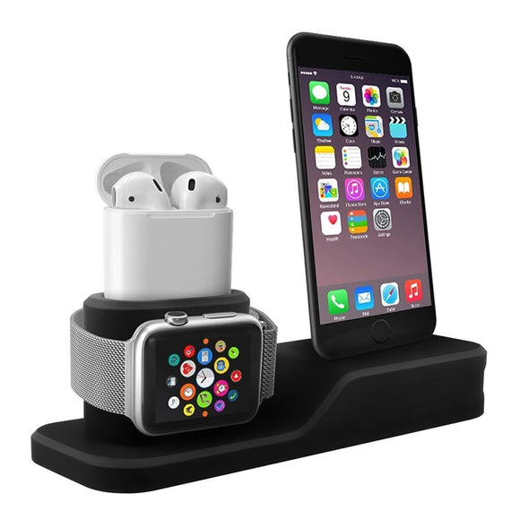 3 in 1 Charging Dock Holder For Iphone X Iphone 8 Iphone 7 Iphone 6, Apple watch & Apple Airpods
