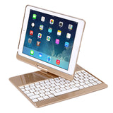 360° Rotatable iPad Keyboard Case for iPad 2018 (6th Gen) - iPad 2017 (5th Gen) - iPad Pro 9.7 - iPad Air 2 & 1