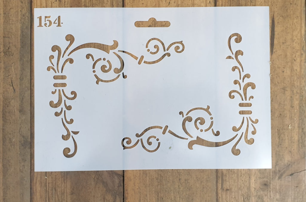 Corner Scroll stencil 154 (260mmx180mm)