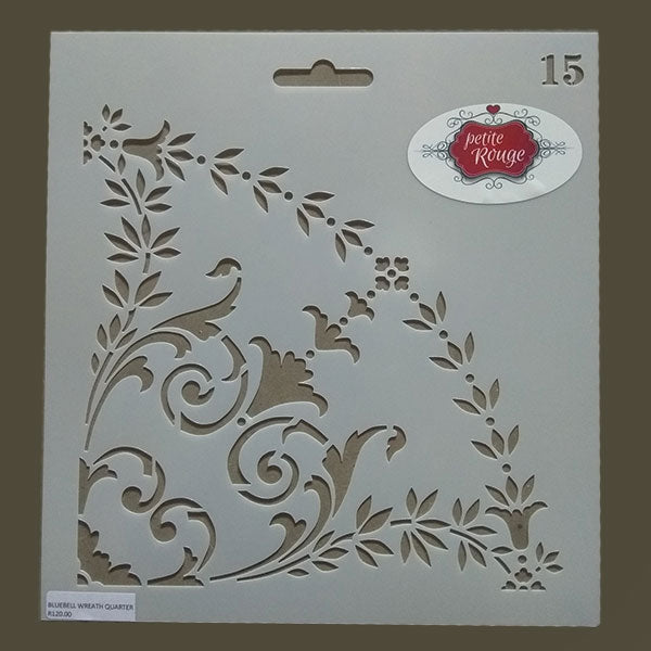 No.15 Bluebell Wreath Quarter (220mm x 235mm)