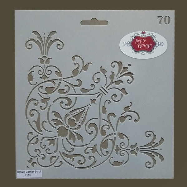 No.70 Ornate Corner Scroll (230mm x 245mm)
