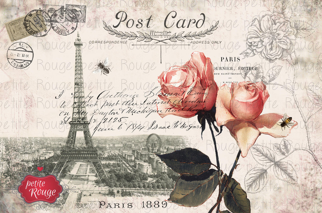 Papier de Meuble - Post Card Paris (600x900mm)