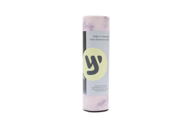Yoga Towel: BLUSH MARBLE