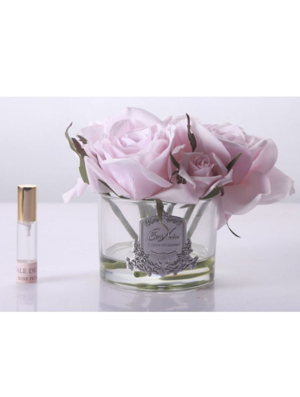 PERFUMED NATURAL TOUCH 5 ROSES - CLEAR - FRENCH PINK