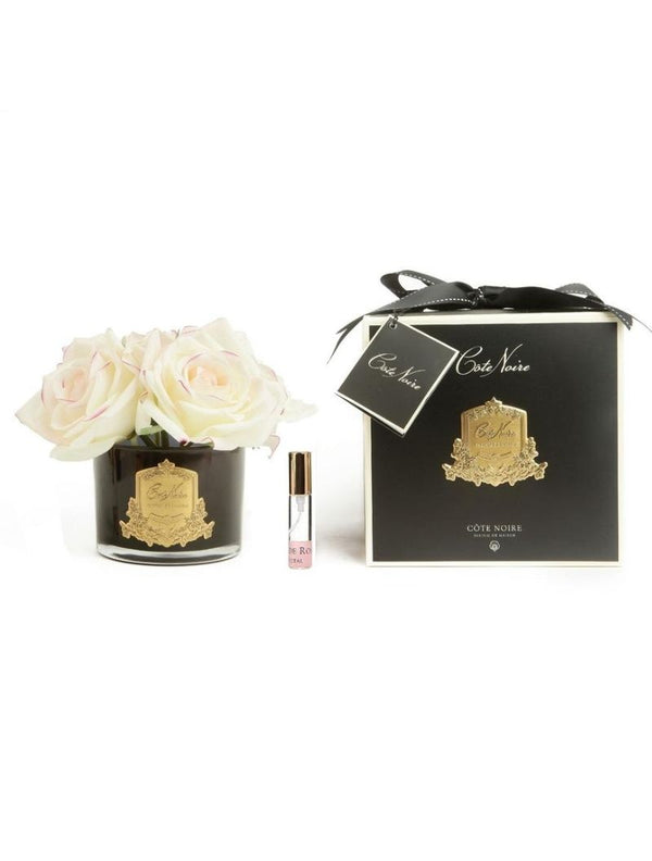 PERFUMED NATURAL TOUCH 5 ROSES - BLACK - PINK BLUSH