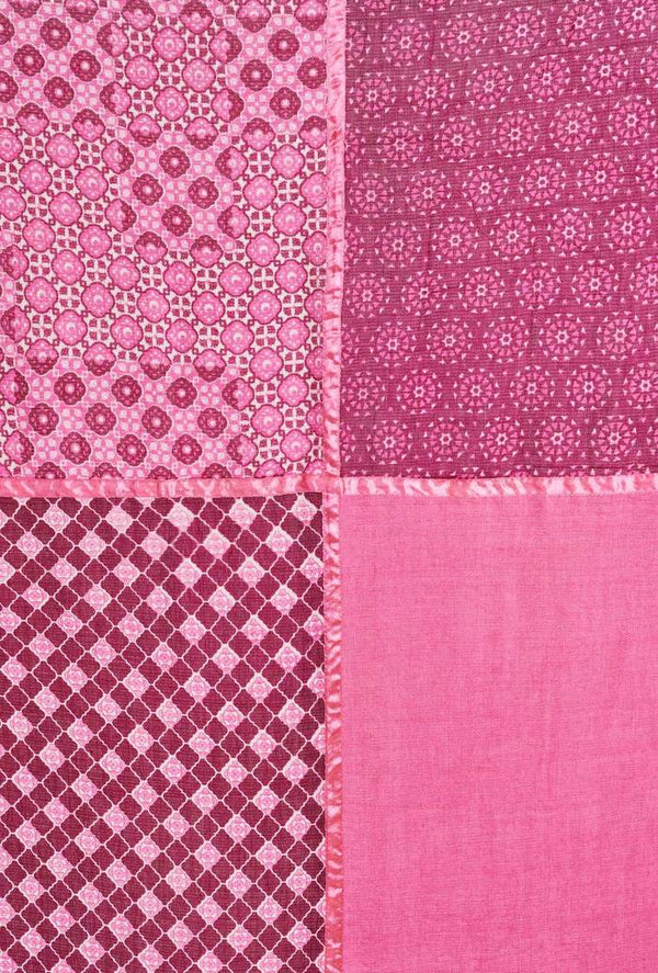 SALLY SCARF - Large - Bright Pink