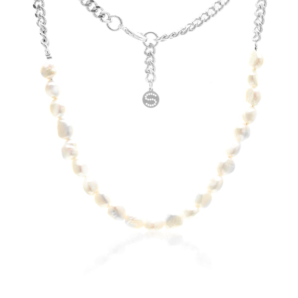 Always Yours Necklace - Pearl / Silver