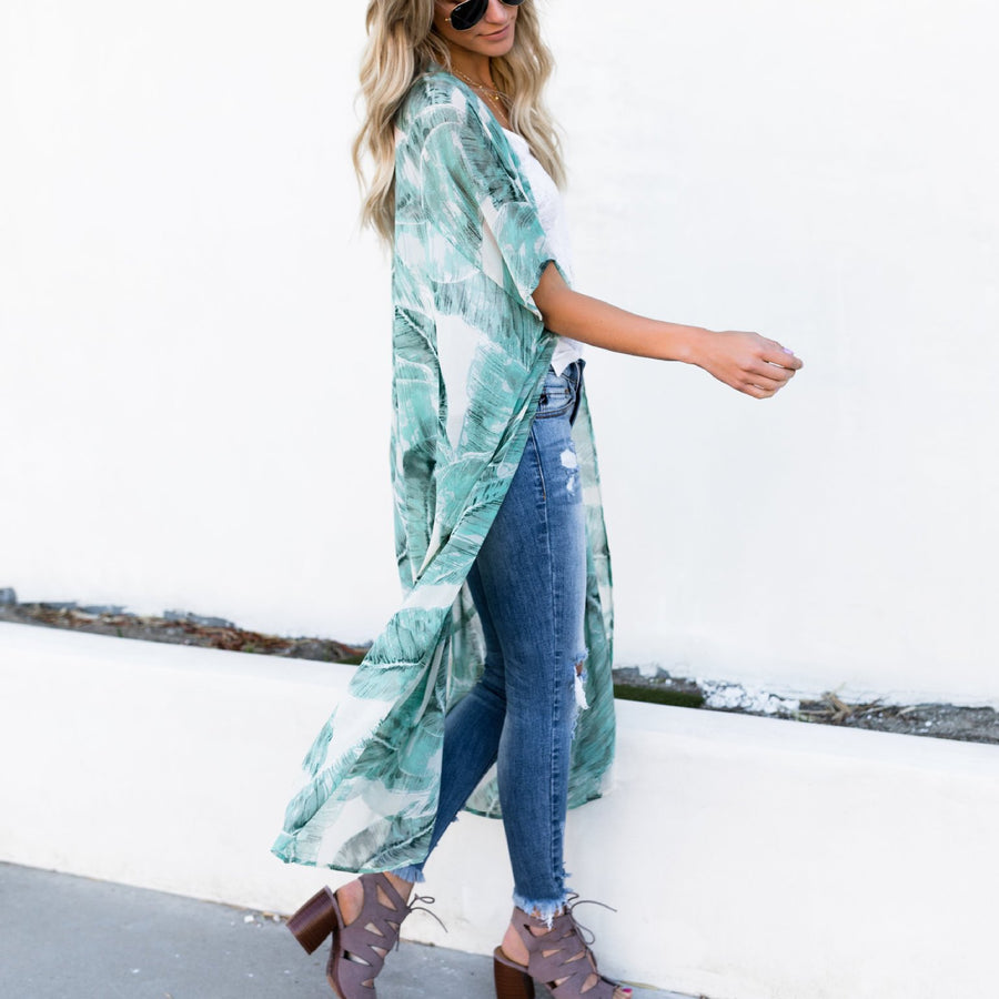 Chiffon Printed Sunscreen Cardigan