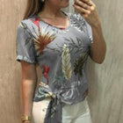 Casual Flower Printed Blouse