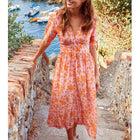 Summer New Half Sleeve V Neck Dress