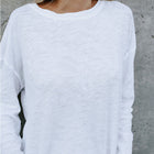 Solid Casual Long Sleeve Cotton T-Shirt