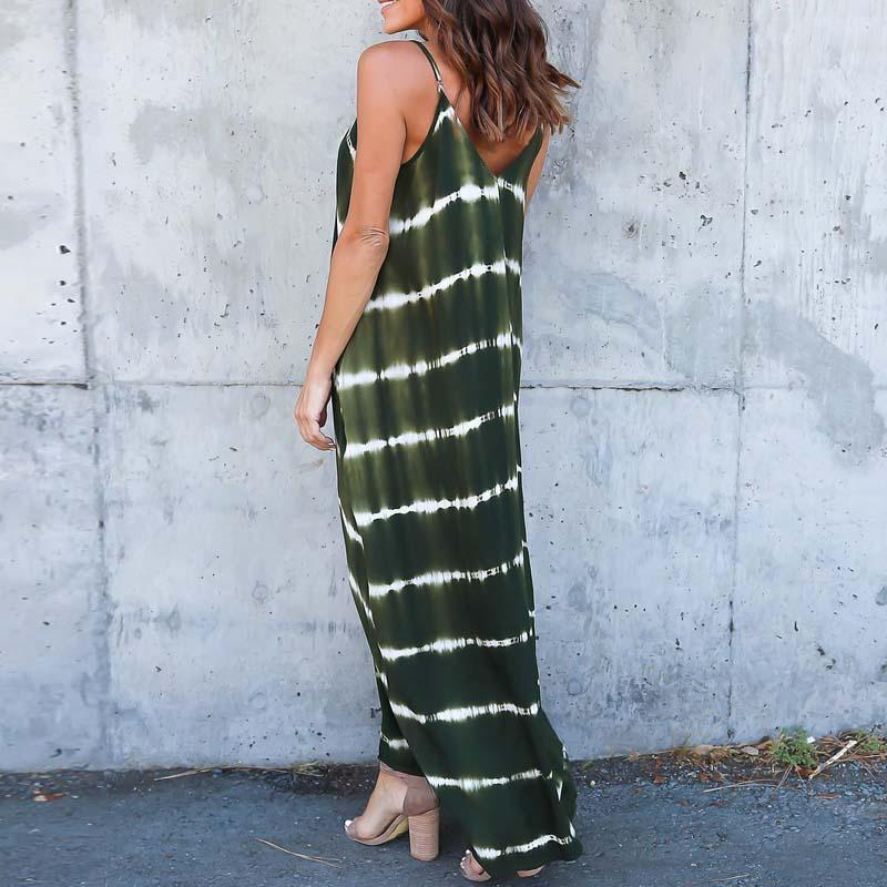 V Neck Beach Long Maxi Dress