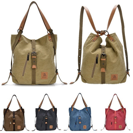 Canvas Multifunctional Large Capacity Handbag Shoulder Bags Backpack
