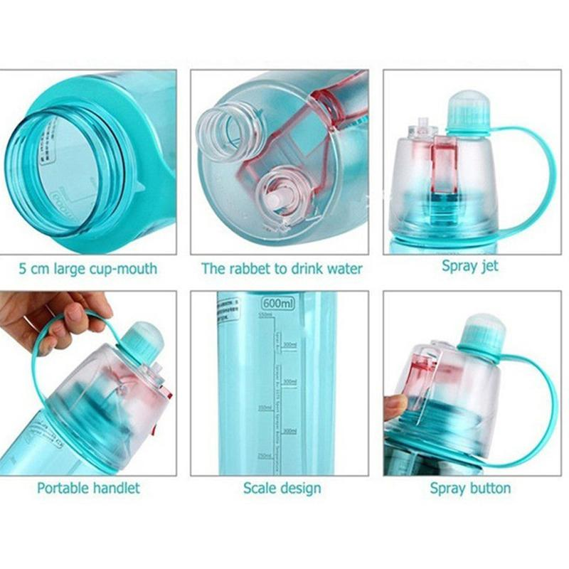 Outdoor Sports Spray Water Bottle Dual-use BPA Free Plastic Cycling Water Bottles
