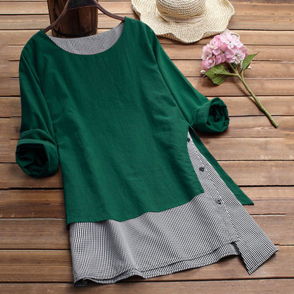 Women Long Sleeve Casual Plus Size Blouses